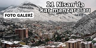 21 NİSAN KAR MANZARALARI