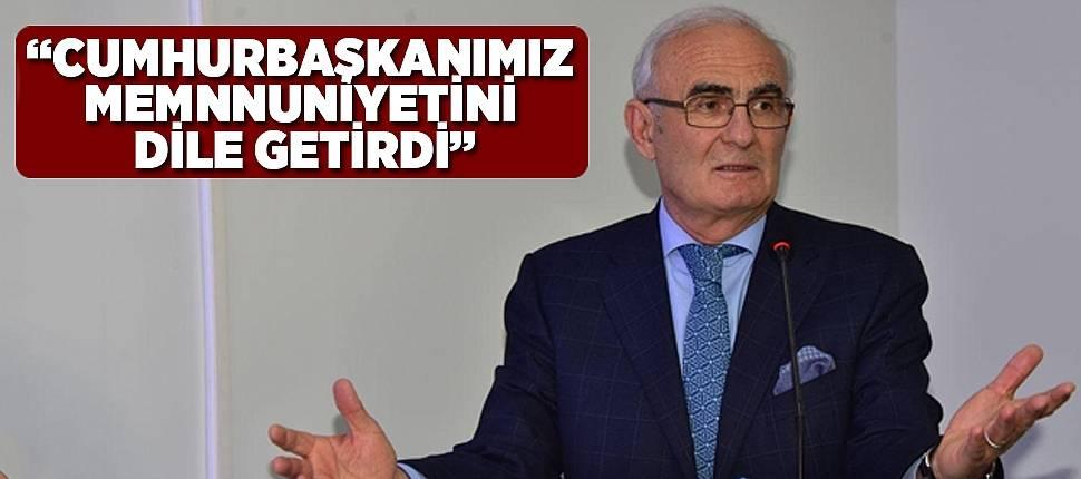 """BAŞKAN YILMAZ, """"CUMHURBAŞKANIMIZ MEMNNUNİYETİNİ DİLE GETİRDİ"""" - Samsun Haber"""