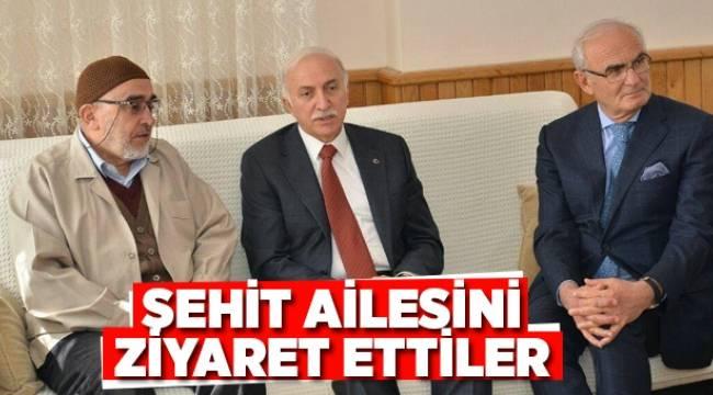 ŞEHİT AİLESİNİ ZİYARET ETTİLER - Samsun Haber