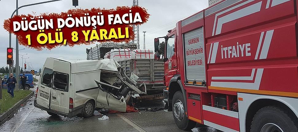 Düğün dönüşü kaza: 1 ölü, 8 yaralı