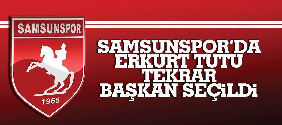 SAMSUN HABER - Samsunspor'da Erkurt Tutu tekrar başkan seçildi