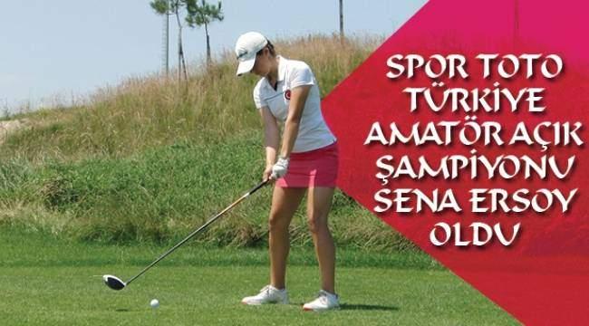 SAMSUN HABER -  Spor Toto Türkiye Amatör Açık Şampiyonu Sena Ersoy oldu
