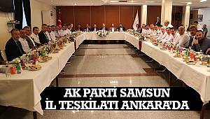 SAMSUN HABER - AK Parti Samsun İl Teşkilatı Ankara'da