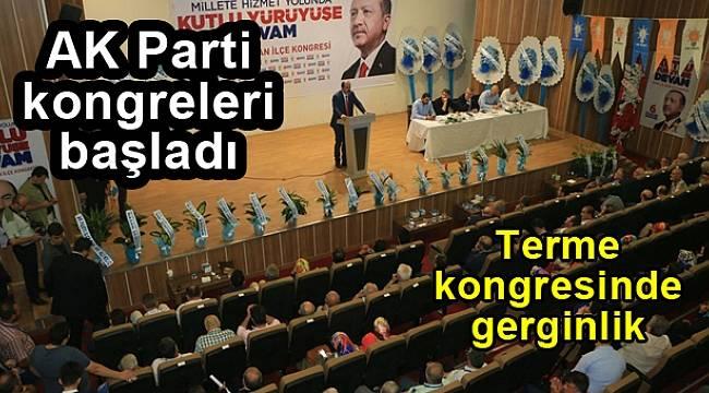 AK Parti kongresinde gerginlik