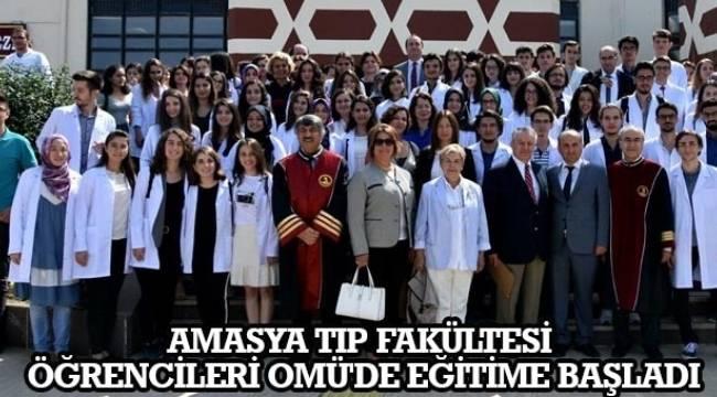 SAMSUN HABER - Amasya Tıp Fakültesi öğrencileri OMÜ'de eğitime başladı