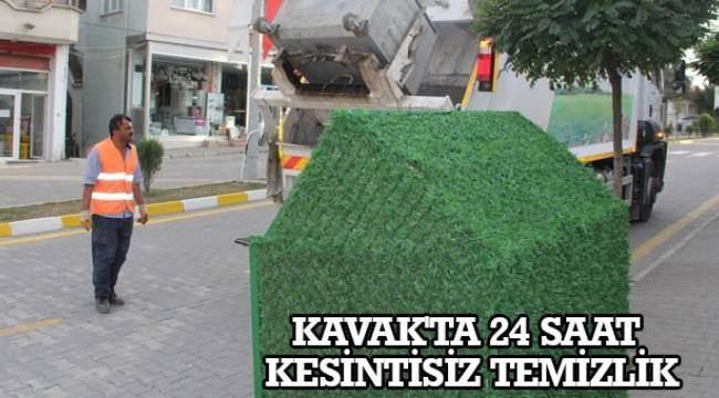 SAMSUN HABER - Kavak'ta 24 saat kesintisiz temizlik