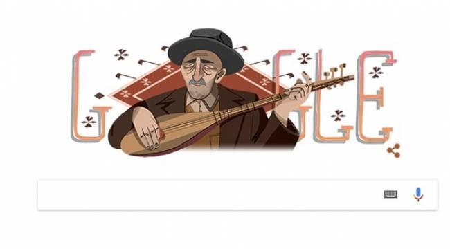 Google, halk ozanı Aşık Veysel'e özel doodle yaptı