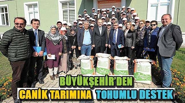 SAMSUN HABER - Büyükşehir Belediyesi Canik çiftçilerine tohum dağıttı