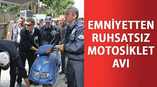 SAMSUN HABER - Emniyet plakasız motosikletler için harekete geçti
