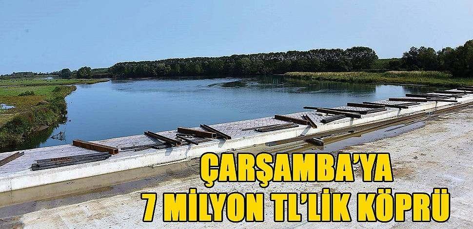 SAMSUN HABER - Hacılıçay Köprüsü mahallelerin ulaşım sorununu çözecek