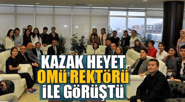 SAMSUN HABER - Kazak heyet OMÜ Rektörü ile görüştü