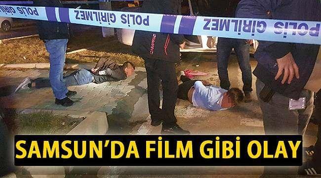 SAMSUN HABER - Polise ateş açtılar, kaza yaparak yakalandılar
