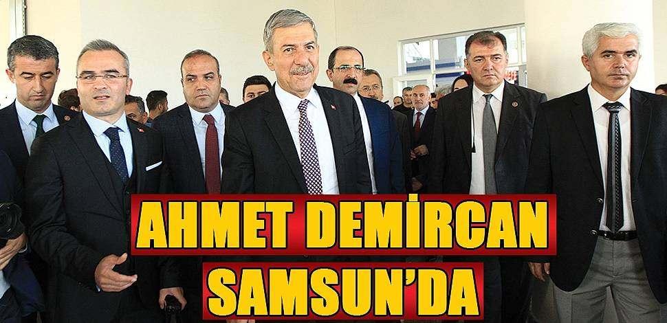 SAMSUN HABER - Sağlık Bakanı Ahmet Demircan Samsun'da