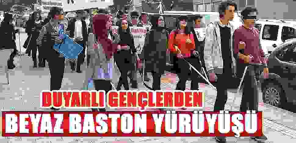 SAMSUN HABER - Samsun'da liseli öğrenciler görme engelliler için yürüdü