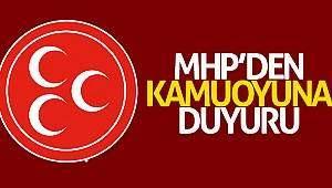 MHP'den komuoyuna duyuru