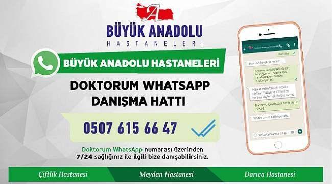 Samsun Büyük Anadolu Hastaneleri'nden 7/24 WhatsApp üzerinden hizmet