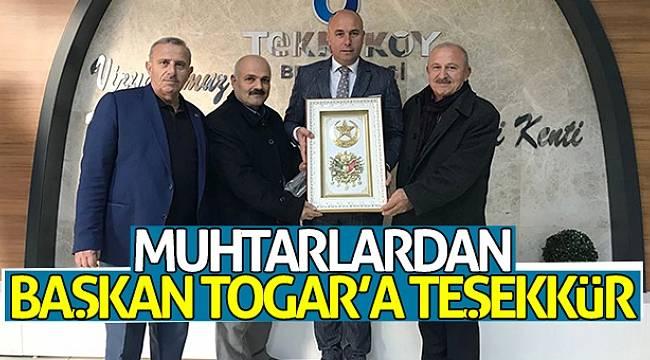Muhtarlardan Başkan Togar'a teşekkür