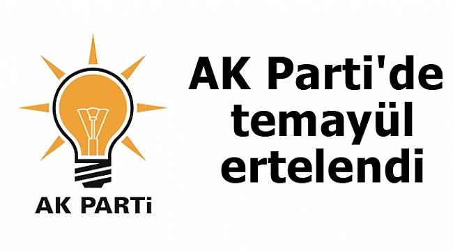 AK Parti'de temayül ertelendi