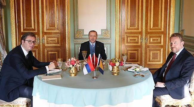 Cumhurbaşkanı Erdoğan, Vucic ve İzetbegovic'i kabul etti
