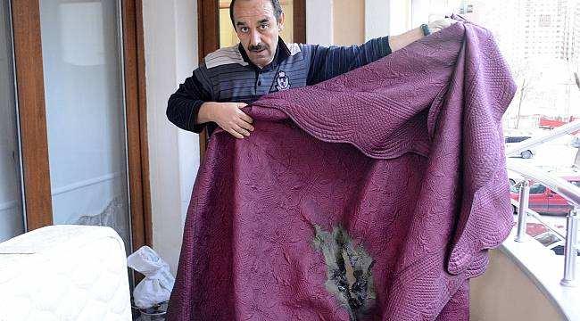 Elektrikli battaniye alev aldı bir aile ölümden döndü
