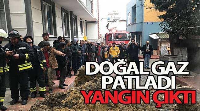 Samsun'da doğalgaz patlaması sonucu yangın