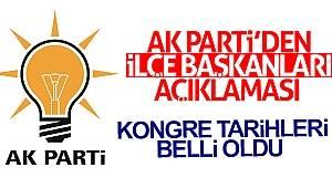 AK Parti'den İlçe Başkanları açıklaması
