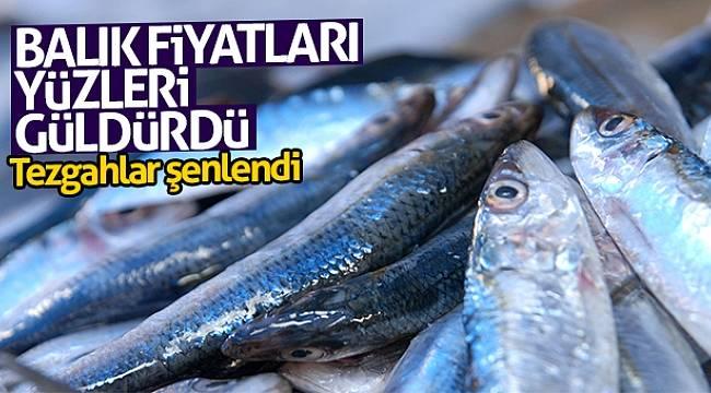 Balık fiyatları yüzleri güldürdü