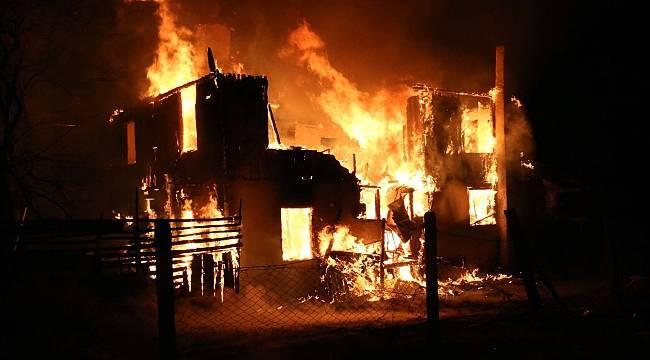 Bolu'da korkutan yangın