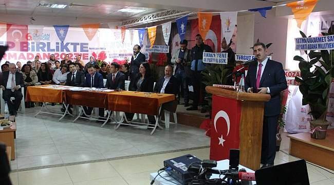 Köktaş, Adana'da ilçe kongrelerine katildi