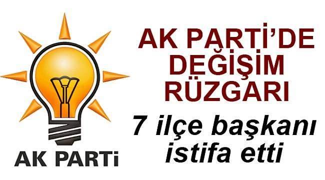 Samsun AK Parti'de 7 ilçe başkanı istifa etti