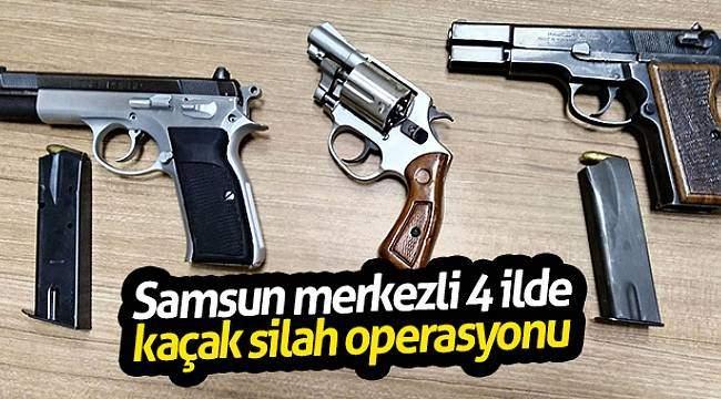 Samsun merkezli 4 ilde kaçak silah operasyonu