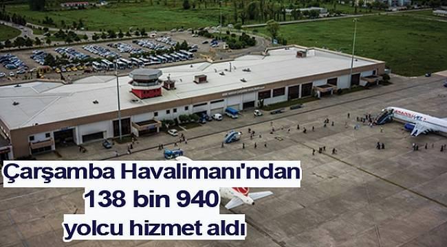 Çarşamba Havalimanı'ndan 138 bin 940 yolcu hizmet aldı