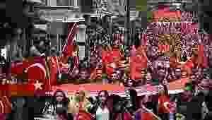 Samsun'da Çanakkale yürüyüşü