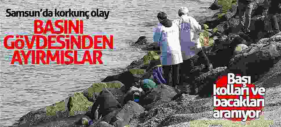 Samsun'da deniz kenarında kadın cesedi bulundu