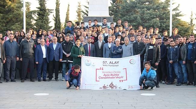 Samsun'da 57. Alaya Vefa Yürüyüşü