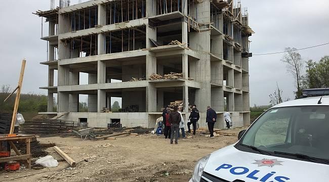 Samsun'da inşaatın 5. katından düşen işçi öldü