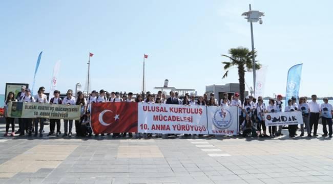 10. Ulusal Kurtuluş MücadelesiAnma Yürüyüşü başladı