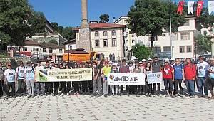 Ulusal Kurtuluş Mücadelesi Yürüyüşü'ne katılanlar Kavak'a ulaştı