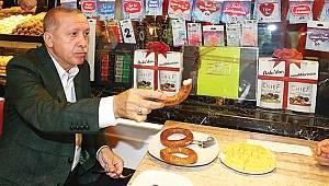 Erdoğan Samsun simidi yedi