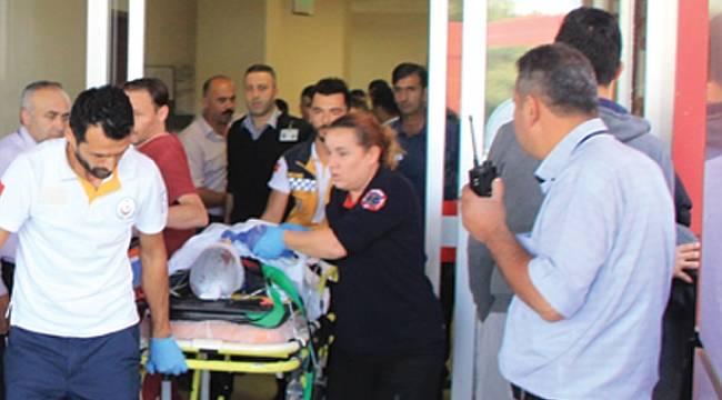 Kamyonetin çarptığı bisiklet sürücüsü ağır yaralandı