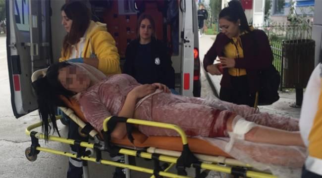Samsun'da ablasını silahla yaraladı