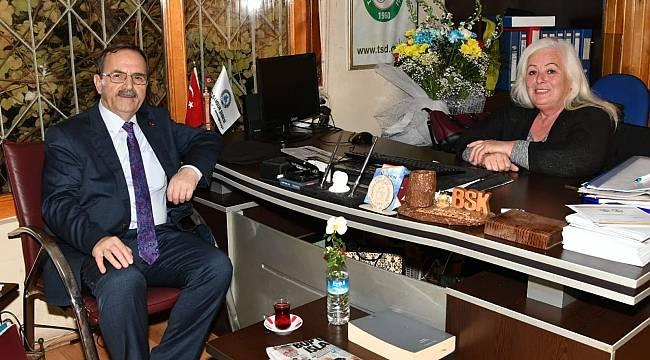 Başkan Zihni Şahin, Samsun Sakatlar Derneği'nde