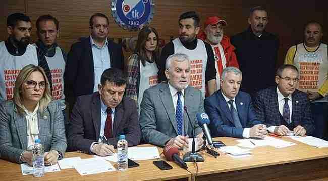 Hancıoğlu'ndan işçilere destek