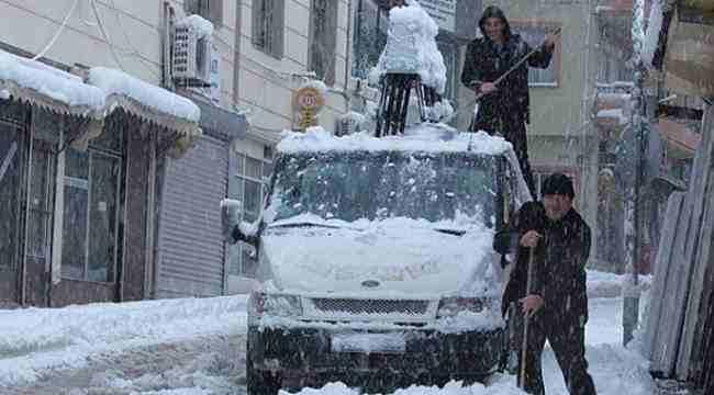Samsun'da kar hayatı olumsuz etkiliyor