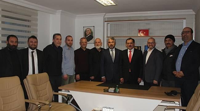 Aksu ve Demir İnternet Gazetecilerini ziyaret etti