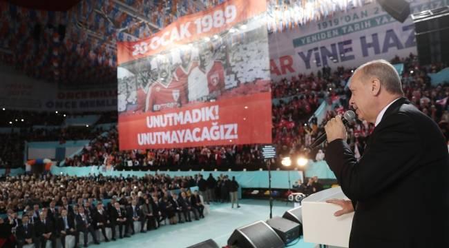 Erdoğan Samsunspor'u andı: Anıt sözü verdi