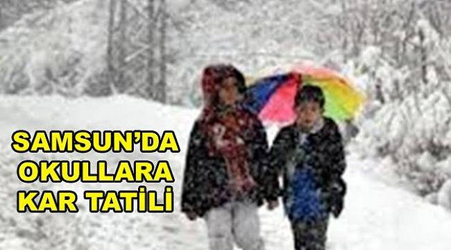 Samsun'da 8 ilçede eğitime kar engeli