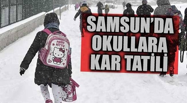 Samsun'da okullara kar engeli