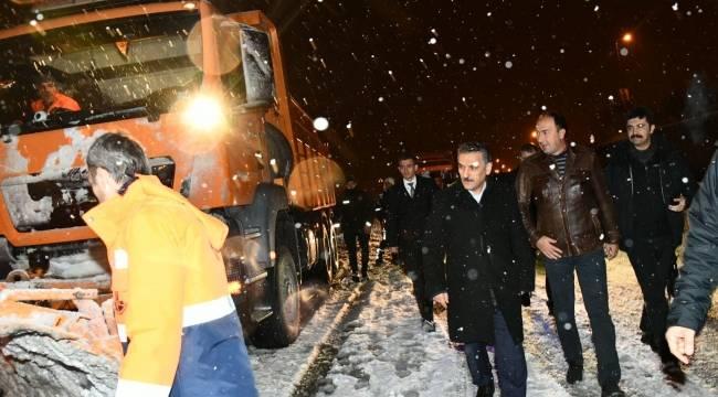 Vali Kaymak Ankara yolunda çalışmaları denetledi