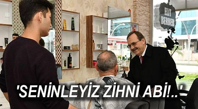 Başkan Zihni Şahin, Atakum'da gün boyu esnafla, akşam ise vatandaşlarla bir araya geldi